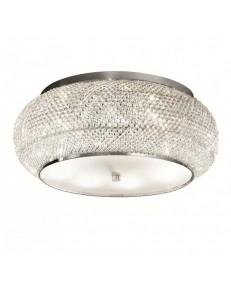 IDEAL LUX: Pasha' pl14 plafoniera con perle in cristallo ø65 cromo in offerta