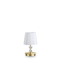 IDEAL LUX: Pegaso tl1 lumetto small ottone e bianco in offerta