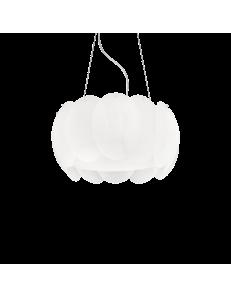 Ovalino sp5 sospensione rotonda ø44 vetro bianco