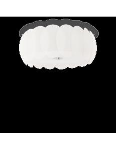 Ovalino pl8 plafoniera rotonda ø52 con vetri bianchi