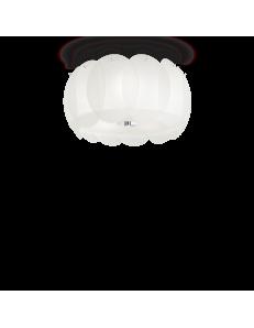 Ovalino pl5 plafoniera rotonda ø40 con vetri bianchi