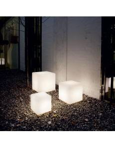 IDEAL LUX: Luna pt1 lampada da terra 50x50 cubo luminoso ip44 in offerta