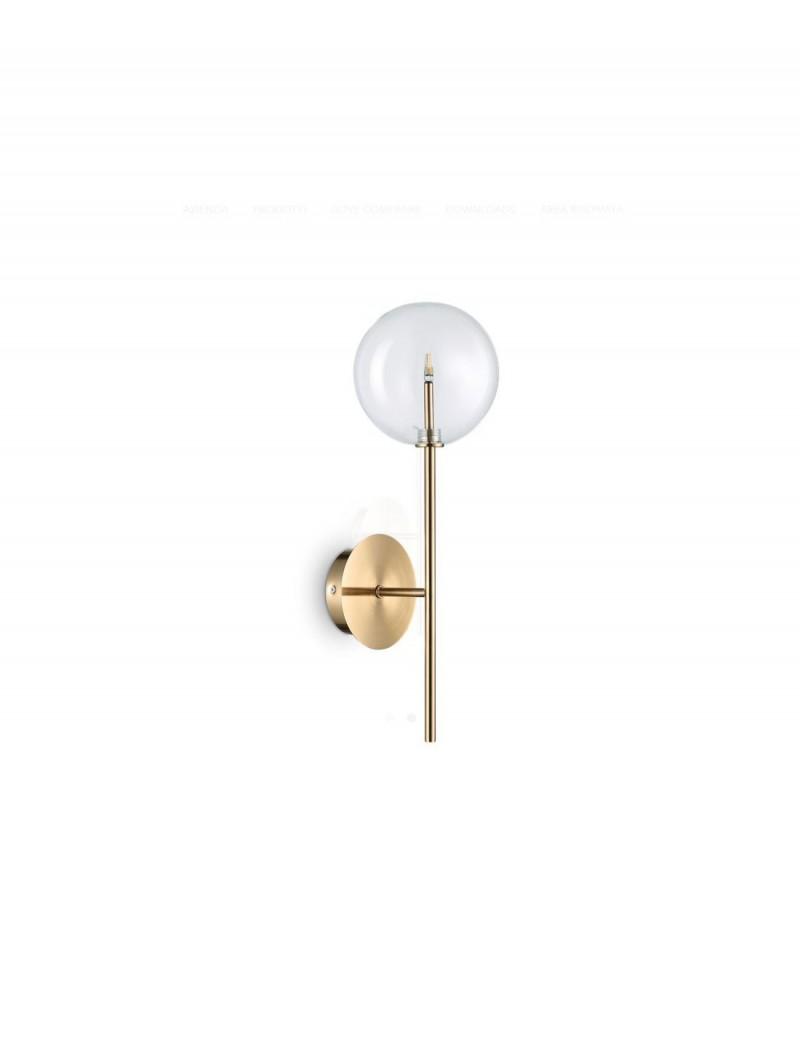 IDEAL LUX: Equinoxe ap1 applique in metallo ottone antico in offerta