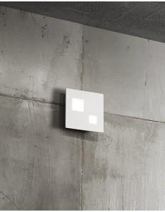 Applique plafoniera in metallo verniciato bianco LED