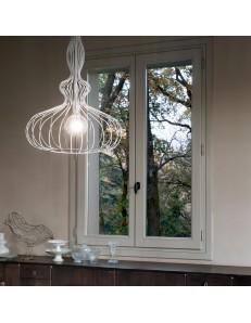 MR DESIGN: Clessidra lampadario classico cucina metallo bianco sospensione in offerta