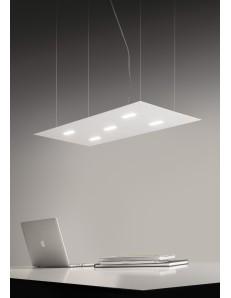 Tratto sospensione LED metallo 90x40cm doppia illuminazione colore bianco o nero