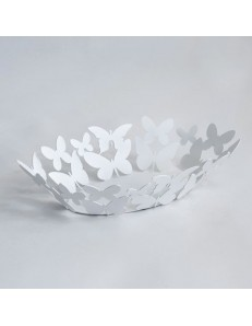 ARTI & MESTIERI: Butterfly ovale centrotavola farfalle bianco cucina design moderna in offerta