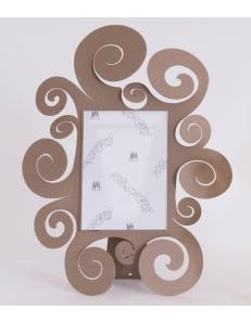 ARTI e MESTIERI: Temple portafoto piccolo 24x30 in metallo beige in offerta