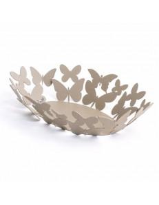 ARTI & MESTIERI: Butterfly ovale centrotavola beige soprammobile design moderno in offerta