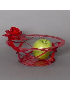 ARTI & MESTIERI: Bouquet centrotavola cucina metallo rosso moderno in offerta