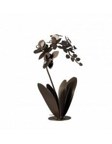 ARTI e MESTIERI: Orchidea soprammobile scultura da tavolo moderna bronzo in offerta