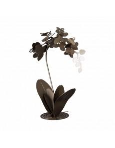 ARTI e MESTIERI: Orchidea grande scultura da terra bronzo design moderna in offerta