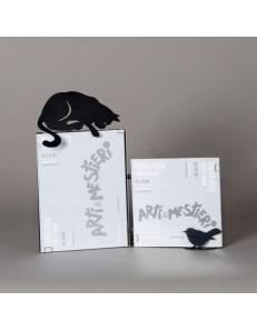 ARTI e MESTIERI: Hunter cat portafoto gatto nero soprammobile da tavolo moderno in offerta