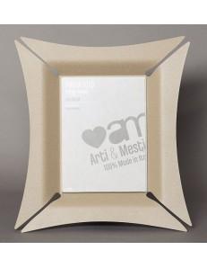 ARTI e MESTIERI: Morgana piccolo portafoto beige soprammobile moderno in offerta