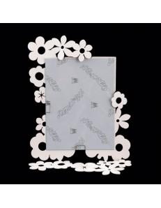 ARTI e MESTIERI: In fiore cornice portafoto bianco soprammobile moderno in offerta