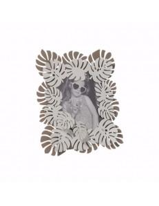 ARTI e MESTIERI: Monstera piccola cornice portafoto beige e bianco marmo in offerta
