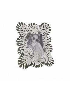 ARTI e MESTIERI: Monstera cornice portafoto moderna verde garden bianco marmo in offerta