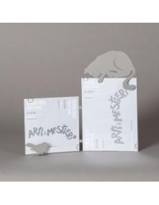 ARTI e MESTIERI: Hunter cat portafoto tavolo fango soprammobile moderno in offerta