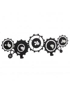 ARTI e MESTIERI: Meccano appendiabiti metallo con ingranaggi nero 80cm in offerta