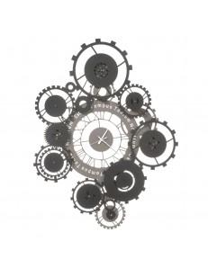 ARTI e MESTIERI: Tempus orologio da parete fango e nero contemporaneo con ingranaggi Ø100 in offerta