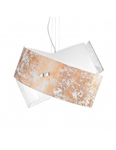 camilla sospensione moderna vetro media 39x26cm foglia oro, rame o argento