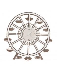 ARTI e MESTIERI: Luna Park orologio da parete bronzo e bianco Ø65 in offerta