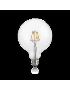 IDEAL LUX: Globo d125 lampadina E27 led 8w vetro traparente luce naturale 920 lumen Ø12.5 in offerta