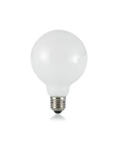 Globo d95 lampadina E27 led 8w vetro bianco luce naturale