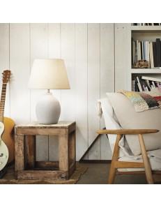 IDEAL LUX: Boulder tl1 bianco lampada da tavolo con base in cemento in offerta
