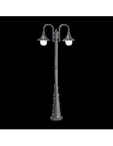 IDEAL LUX: Cima pt2 lampione giardino antracite alluminio pressofuso 2 luci in offerta