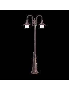 IDEAL LUX: Cima pt2 lampione giardino coffee alluminio pressofuso 2 luci in offerta
