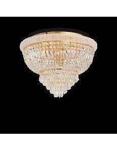 IDEAL LUX: Dubai pl24 oro Plafoniera Ø 78 in perle prismi cristallo soggiorno in offerta