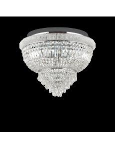 Dubai pl24 cromo Plafoniera Ø 78 in perle prismi cristallo soggiorno