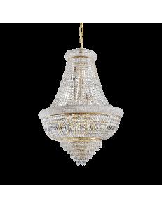 Dubai sp24 ottone Lampada sospensione Ø80 perle prismi ottagoni cristallo