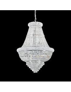 Dubai sp24 cromo Lampada sospensione Ø80 perle prismi ottagoni cristallo