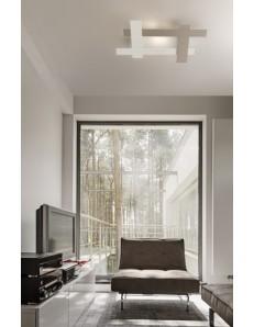 Framing plafoniera LED bianco tortora 94x69cm