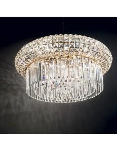 Nabucco sp16 oro lampadario rotondo dorato pendenti in cristallo Ø70
