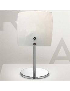 GEA LUCE: Lara lampada da comodino abat jour lumetto vetro vetro bianco in offerta