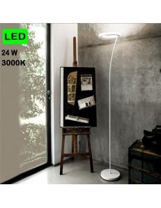 GEA LUCE: Piantana LED 24w 3000k dimmerabile bianca lampada da terra in offerta