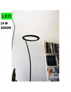 GEA LUCE: Piantana LED 24w 3000k dimmerabile nero design moderno in offerta