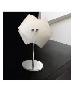 GEA LUCE: Agnese lampada da comodino i vetro lumetto vetri fili bianchi in offerta