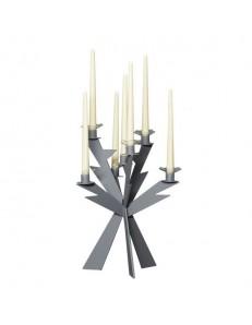 Zeus candelabro ardesia 7 fiamme soprammobile moderno