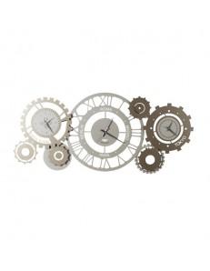 Fuso meccano orologio da parete fusi orari numeri romani sabbia bronzo