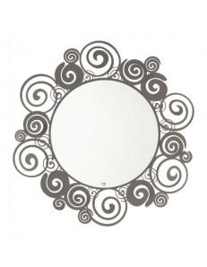 Orfeo specchio a parete per ingresso moderno metallo fango