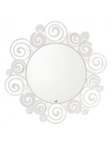 Orfeo specchio da parete bianco circolare per ingresso moderno