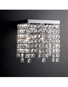 Penelope applique moderna lampada parete con cristalli pendenti K9