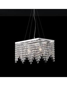 Penelope lampadario rettangolare camera cristalli pendenti K9
