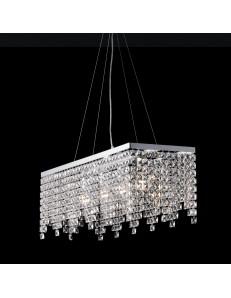 Penelope lampadario medio rettangolare cucina cristalli pendenti K9