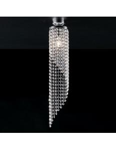 Dandy piccola plafoniera Ø13 moderna h72 cristalli pendenti a spirale