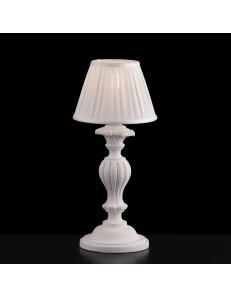 Leonardo lampada da comodino shabby chic legno bianco